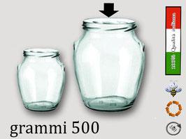Vaso ad orcio con tappo a vite gr. 500 di miele Confezione 20 pezzi