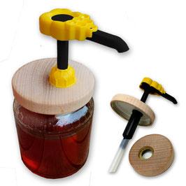 Dosamiele BeeProWood (favo giallo) e tappi in legno