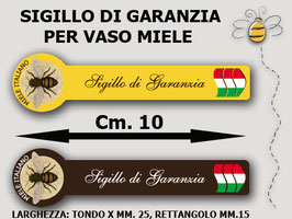 """Sigillo garanzia """"Miele Italiano""""  1000 pezzi"""