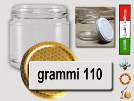 Vasetto vetro ml. 110 per assaggi con capsula Confezione 40 pezzi