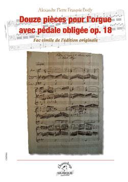 Boëly : Douze pièces pour orgue avec pédale obligée op.18