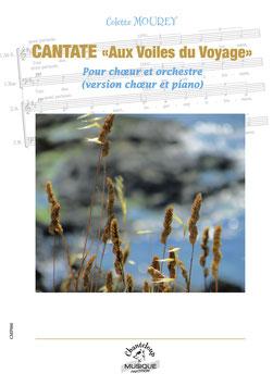 Colette Mourey : Aux ailes du voyage, cantate pour choeur mixte et piano