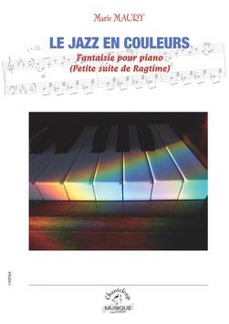 Marie Maury : Le jazz en couleur ; fantaisie pour piano (partition en téléchargement)
