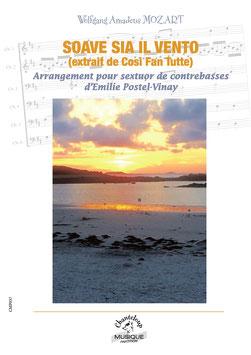 Soave sia il vento de W.A. Mozart transcrit pour sextuor de contrebasses par Emilie Postel-Vinay