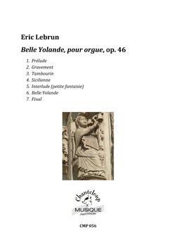 Eric Lebrun : Belle Yolande, Suite de danses pour orgue (partition en téléchargement)