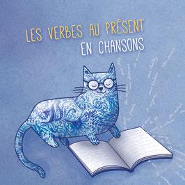Les verbes au présent en chansons, avec les partitions dans un très beau livret