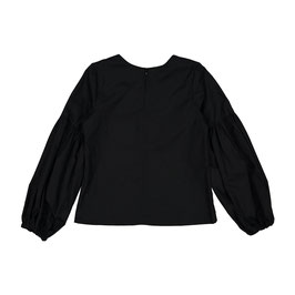 GATHER BLOUSE BLACK