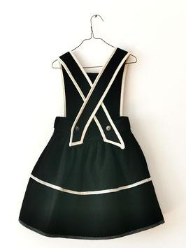 TYROLEAN WOOL DRESS BLACK