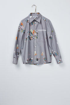 DAIRYMAN SHIRT SCATTERED LEAVES