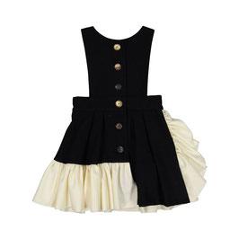 RUFFLE DRESS BLACK OFFWHITE