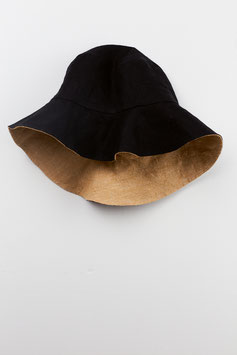 HAT SAND/BLACK REVERSIBLE