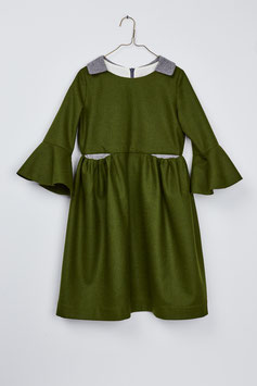 COLLAR DRESS GREEN