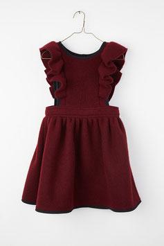 FRILL ANNA DRESS BURGUNDY