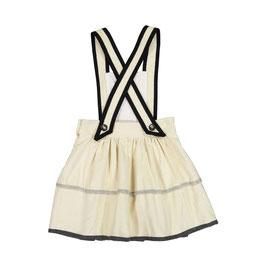 TYROLEAN CORDUROY DRESS OFFWHITE