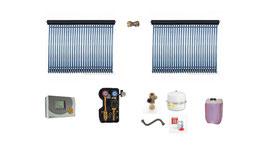 Solaranlage 10 m² Röhrenkollektoren - Komplettset