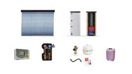Solaranlage 5 m² + Trinkwasserspeicher 400 l - Komplettset