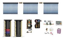 Solaranlage 15 m² inkl. Speicher und Zubehör