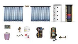 Solaranlage 8 m² + Solarspeicher 825 l + Frischwasserstation  Komplettpaket