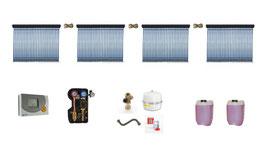Solaranlage 16 m² Röhrenkollektoren - Komplettset