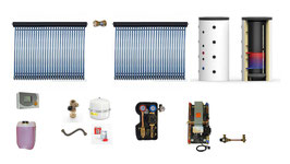 Solaranlage 10 m² + Solarspeicher 825 l + Frischwasserstation  Komplettpaket