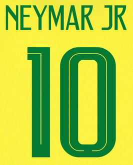 ブラジル代表のマーキング加工