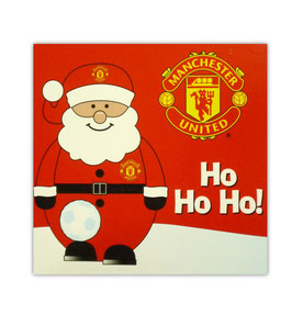 Manchester United Santa Xmas Card