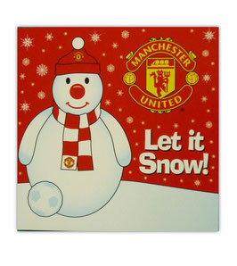 Manchester United Snowman Xmas Card
