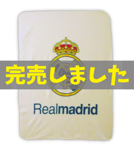 Real Madrid Fleece Blanket White
