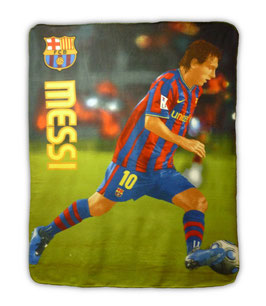 F.C. Barcelona Fleece Blanket Messi