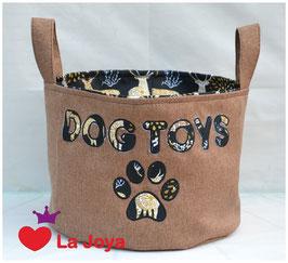 ★ Hundespielzeug-Aufbewahrung ★ Dog Toys schwarz/hirsche ★