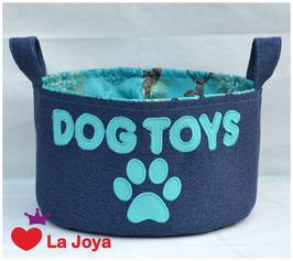 ★ Hundespielzeug-Aufbewahrung ★ Dog Toys türkis 1 ★