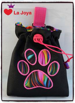 ★ FutterBeutel  ★ Motiv Pfote Wave pink ★