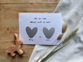 Simple Gender Scratch card