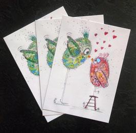 """Postkarte """"Liebe kennt keine Hindernisse"""""""