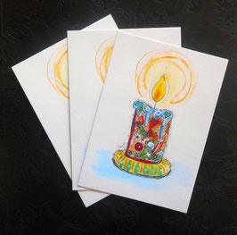 Postkarte Kerze