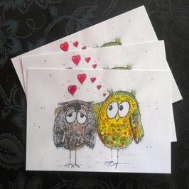 "Postkarte ""Give Love"""