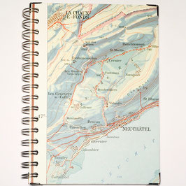 Notizbuch, Serie Schulwandkarte