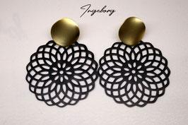 Ohrringe schwarze Blume