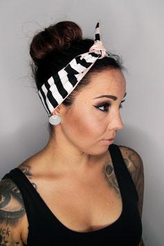 Haarband / Bandana Dots Stripe