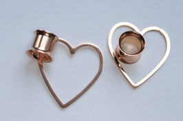 Tunnel rosegold Heart