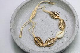 Armkette goldene Muscheln