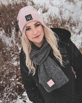 Beanie pink schwarz