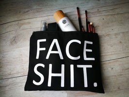 """Face Shit"" Kosmetiktasche"