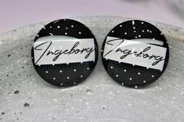 Ingeborg Ohrringe Dots black