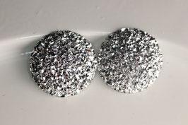 Silber Glitzer 25mm