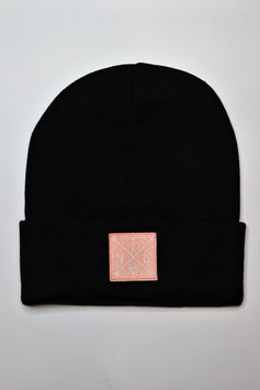 Beanie Black pink