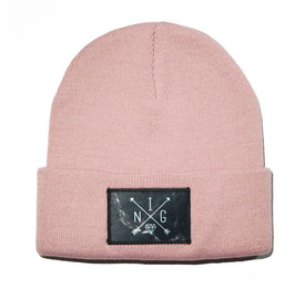 Beanie Pink Marmor Patch