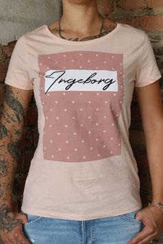 Inegborg Shirt Rosa Punkte
