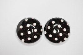 Schwarz Dots 12mm