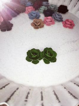 Ohrring Blumen grün
